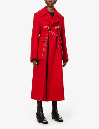 Junya Watanabe Harness double-breasted wool coat