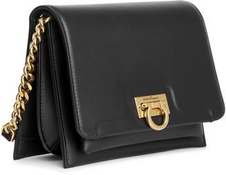 Salvatore Ferragamo Trifolio crossbody black leather bag