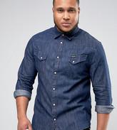 Wrangler Plus Western Shirt Indigo Wash