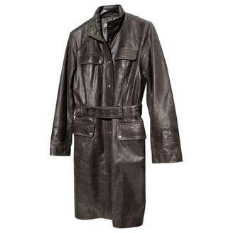 Doma Anthracite Leather Coat for Women