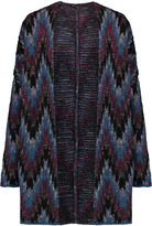 Maje Reversible intarsia-knit cardigan