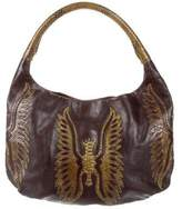 Devi Kroell Python-Trimmed Leather Hobo