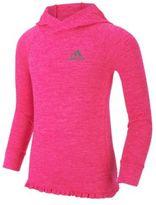 adidas Girl's On The Run Ruffled Hem Athletic Top