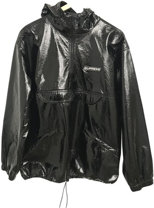 Supreme Black Polyester Jackets