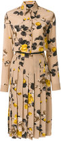 Rochas floral embroidered shirt dress