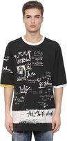 Dolce & Gabbana Printed Cotton Jersey Over T-Shirt
