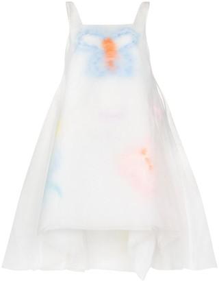 Susan Fang Layered Feather Organza Dress