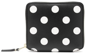 Comme des Garcons Polka-dot Leather Zip Wallet - Black Multi