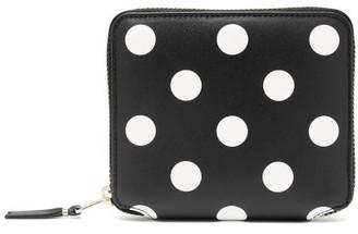 Comme des Garcons Polka-dot Leather Zip Wallet - Womens - Black Multi