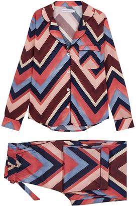 Desmond & Dempsey Milou printed cotton pyjama set