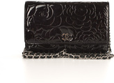 Chanel Aubergine Patent Leather Camellia WOC Wallet On Chain