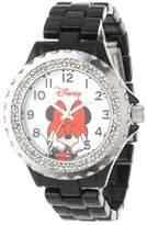 EWatchFactory Disney Women's W000502 Minnie Mouse Enamel Sparkle Bracelet Watch
