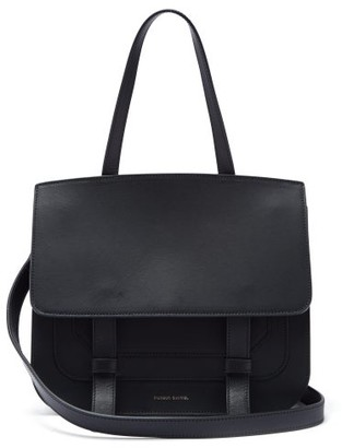 Mansur Gavriel Messenger Leather Shoulder Bag - Black