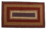 """Homespice Cotton Braided Rug : 2'6"""" x 6' Log Cabin Step Rectangle"""