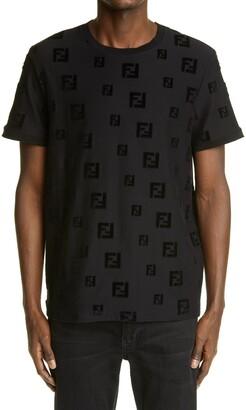 Fendi Flocked FF Logo Men's T-Shirt