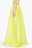Roksanda Ilincic Chartreuse yellow silk blend structured Riley Skirt