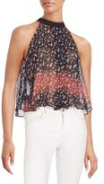 BCBGeneration Sheer Floral Top