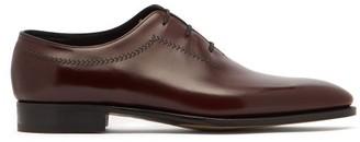 John Lobb Holt Leather Oxford Shoes - Mens - Burgundy