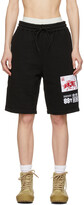 Thumbnail for your product : SSENSE WORKS SSENSE Exclusive 88rising Black Patch Shorts