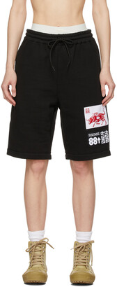 SSENSE WORKS SSENSE Exclusive 88rising Black Patch Shorts