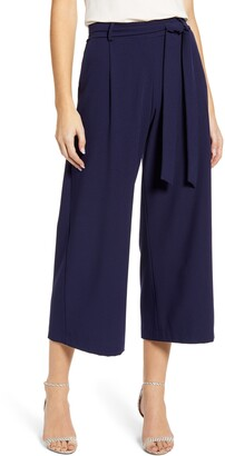 Loveappella Wide Leg Crop Pants
