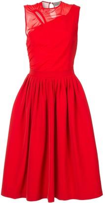 Preen by Thornton Bregazzi Stretch Satin Cut Out Midi Dress