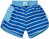 I Play Board Shorts With Built-in Swim Diaper (Baby) - Royal Stripe - 12 Months