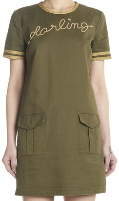 Saint Laurent Darling Embroidered Mini Dress