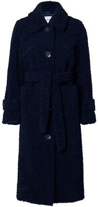 Stand Studio Lottie Belted Faux Shearling Coat
