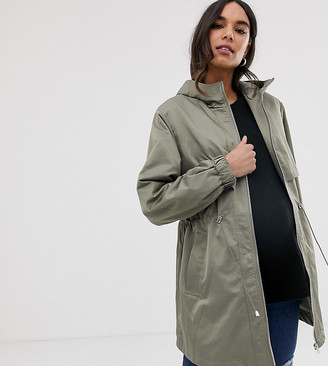 Asos DESIGN Maternity lightweight parka with jersey lining-Green