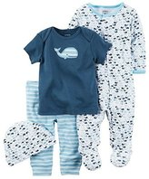 Carter's Baby Boy Clothes 4 Pc Sleeper Shirt Pants Hat Set
