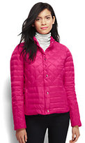 Lands' End Women's Tall Lightweight Down Packable Jacket-Magenta Rose