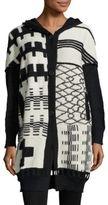 Zero Maria Cornejo Kyra Printed Knit Alpaca Coat