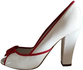 Moschino White Leather Heels