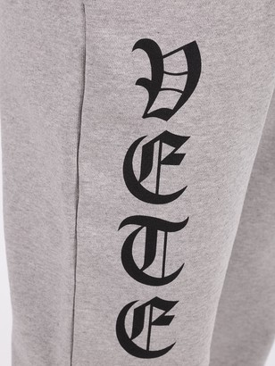 Vetements Gothic Print Jogger Grey