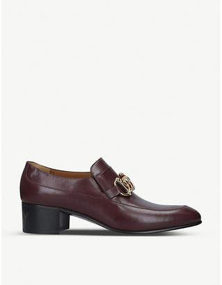 Gucci Stud-embellished leather loafers