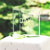 """Cathy's Concepts Cathys concepts Best Day Ever"""" Wedding Cake Topper"""
