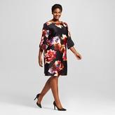 Women's Plus Size Floral Shift Dress - Melonie T
