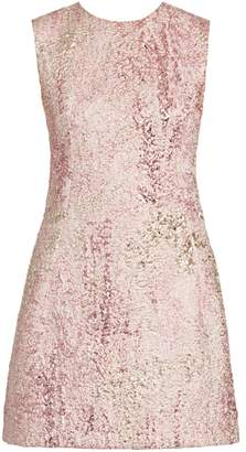 Dolce & Gabbana Sleeveless Metallic Jacquard A-Line Dress