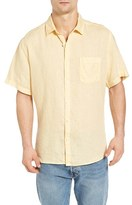 Original Paperbacks Men's Rome Trim Fit Linen Sport Shirt
