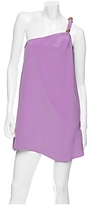 One Shoulder Silk Jersey Dress