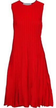 Carolina Herrera Pleated Stretch-knit Dress