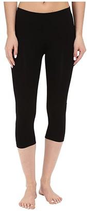 Pact Organic Cotton Cropped Leggings (Black) Women's Casual Pants