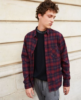 The Kooples Blue and red check flannel shirt