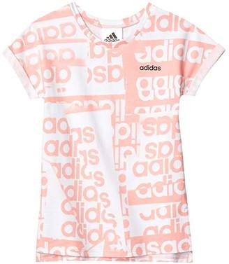 adidas Kids Sport Print Tee Dress (Infant) (Light Pink) Girl's Dress