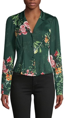 BCBGeneration Floral Vintage-Style Blouse