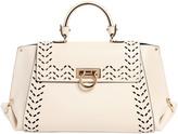 Salvatore Ferragamo Medium Sofia Perforated Leather Bag