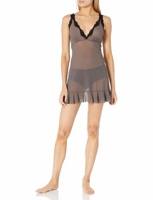 Only Hearts Women's Tulle with Lace Ruffle Chemise