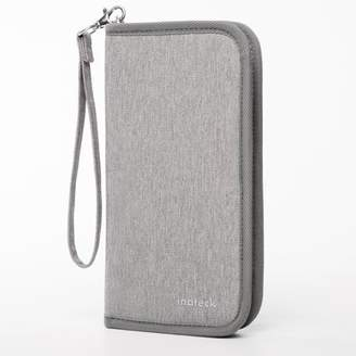Inateck Travel Wallet Passport Holder Family Document Card with Hand Strap Zip Closure Document Organizer Passport Ticket Credit ID Card Cash Holder Case - Gray