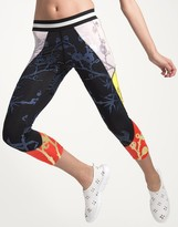 Cynthia Rowley Cropped Metallic Color Block Legging